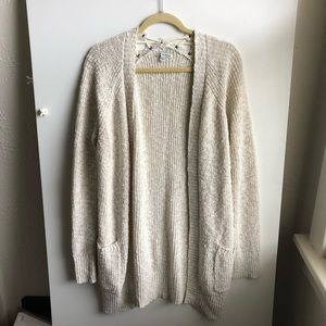 American Eagle Cream Cardigan / Small